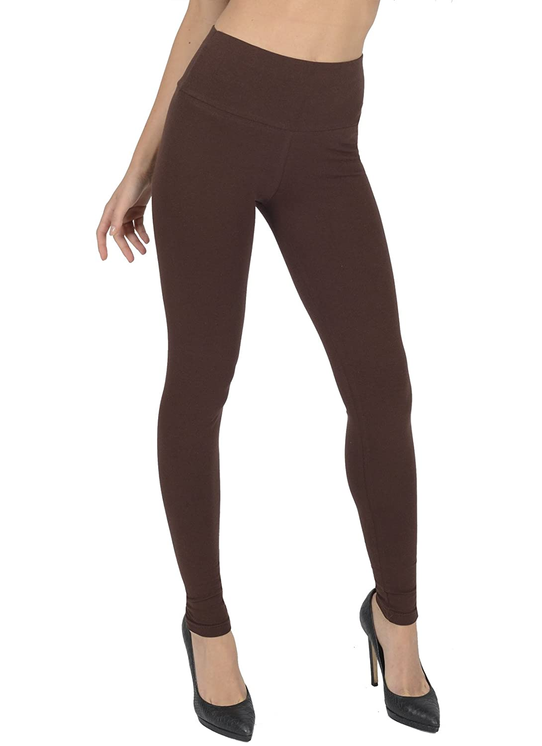 Women's High Waisted Full Length Leggings By Today Is Her ® Extra Comfort Range, Plus Sizes A05-Parent
