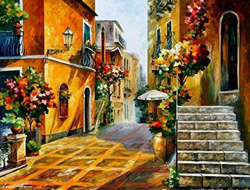 (Italian Art Sicily Paintings On Canvas By Leonid Afremov - The Sun Of Sicily )
