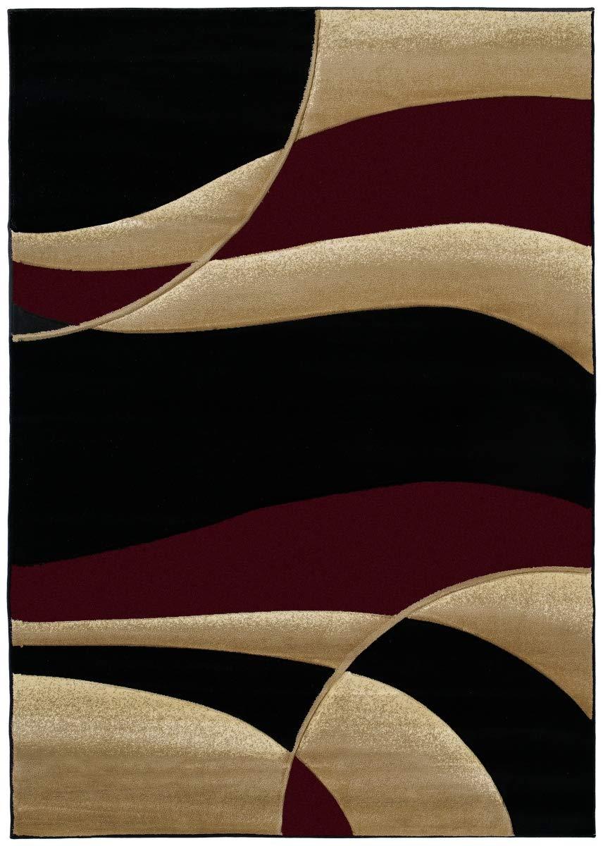 United Weavers Contours Area Rug 510-22834 Avalon Burgundy 5 3 x 7 6 Rectangle