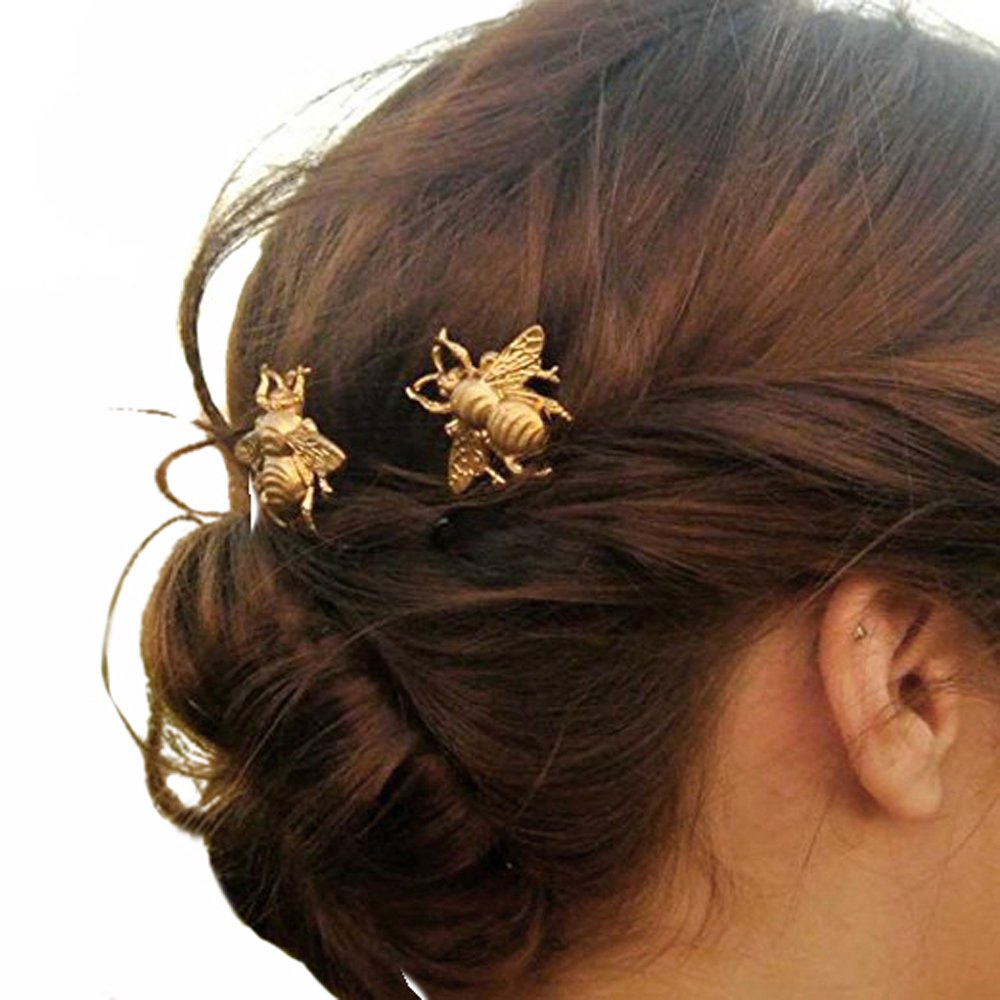 Yean Hair Pins Bridal Hair Accessories with Bees for Women and Girls