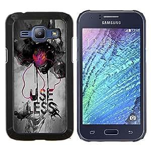 TECHCASE---Cubierta de la caja de protección para la piel dura ** Samsung Galaxy J1 J100 ** --Uso Menos
