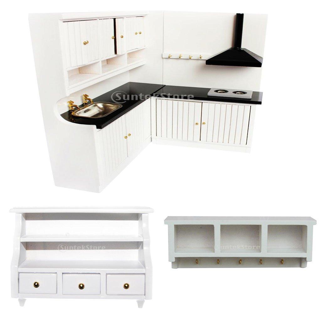 Dollhouse Miniature Mini Bathroom Cabinet Toilet Cabinet White 1//12th Scale