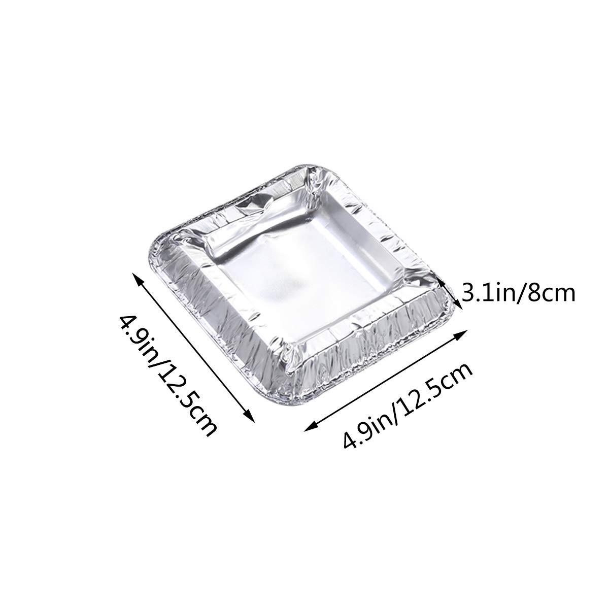 Cenicero de papel de aluminio cuadrado Vosarea paquete de 25 Cenicero desechable desechable de cigarrillos port/átil para uso al aire libre
