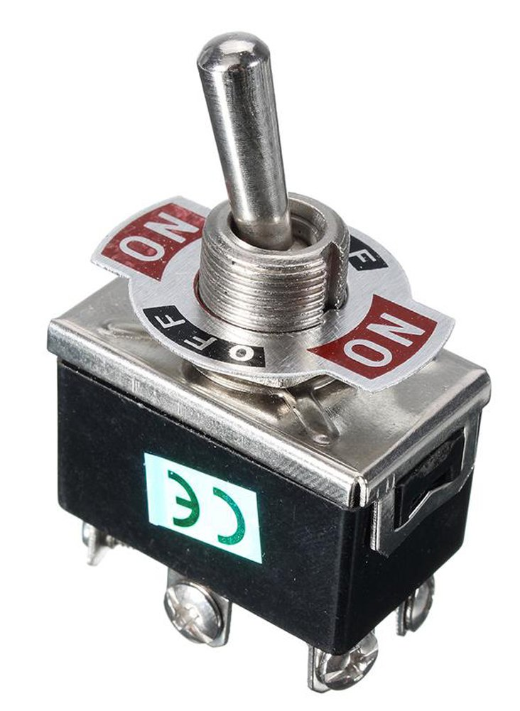 SaySure - 15A 250V SPST 6 Terminal ON OFF Toggle Switch Favorable