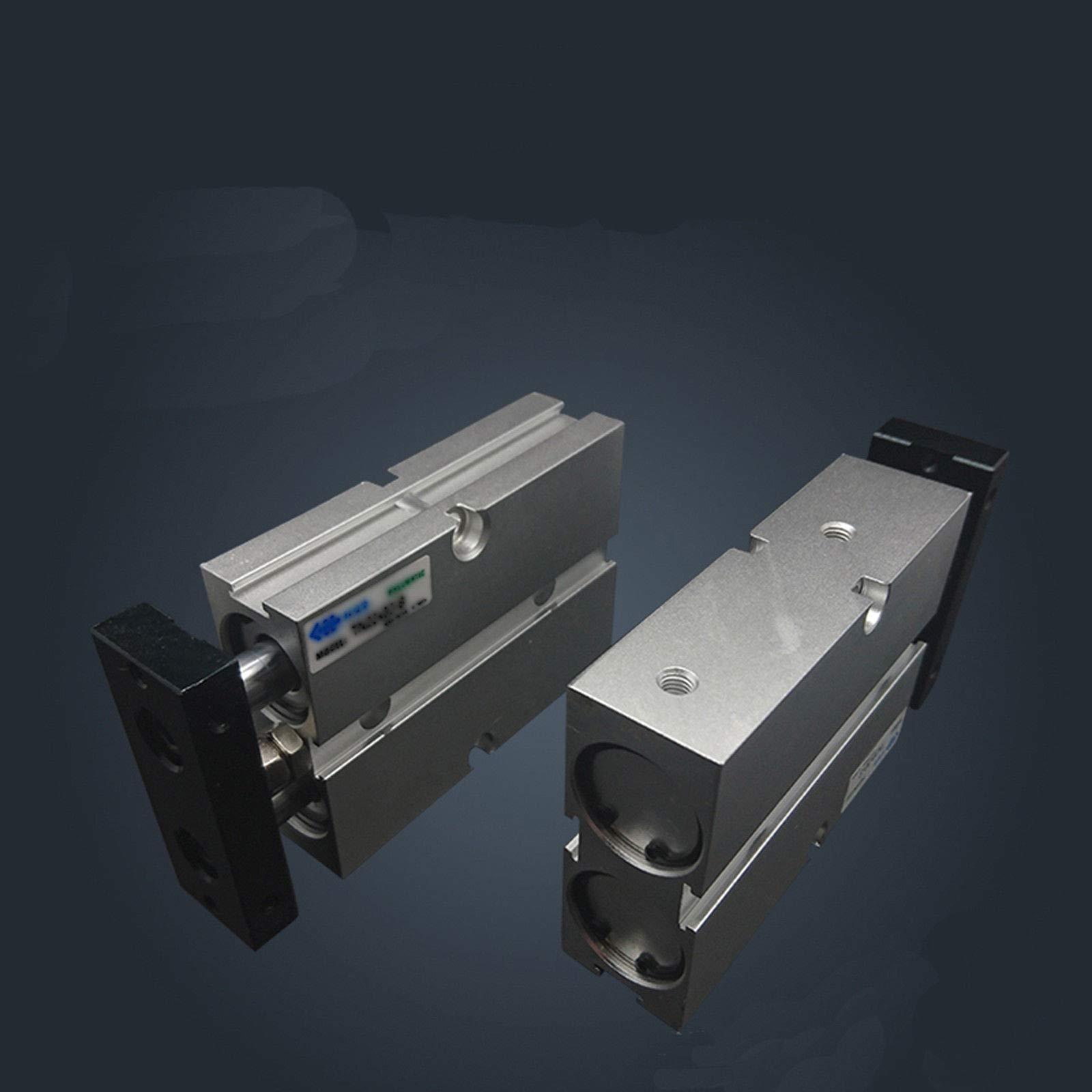 TN20X75 20mm x 75mm Double Rod Aluminum Alloy Pneumatic Air Cylinder
