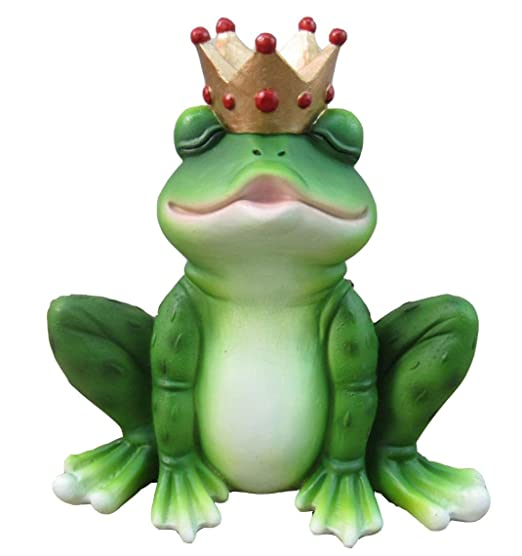 The Kiss Ugly Frog Turns To Charming Prince Wearing A Crown Figurine Collectible
