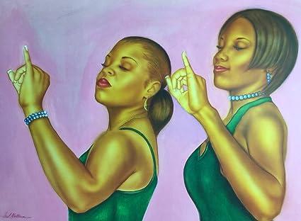 Amazon.com: Sisters Of Aka (Sorority) - Fred Mathews 18x24 Unframed ...
