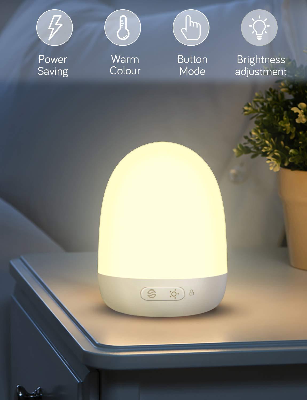 lampe /à LED Conor LED avec 7 couleurs changeantes et dimmable lampe de chevet portable et USB jusqu/à 40 heures dautonomie commande tactile tactile Veilleuse LED rechargeable pour b/éb/és