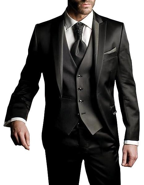 Suit Me Me - Traje - para Hombre Negro Small (en Referencia al  Groessentabelle) 7115420d3d1