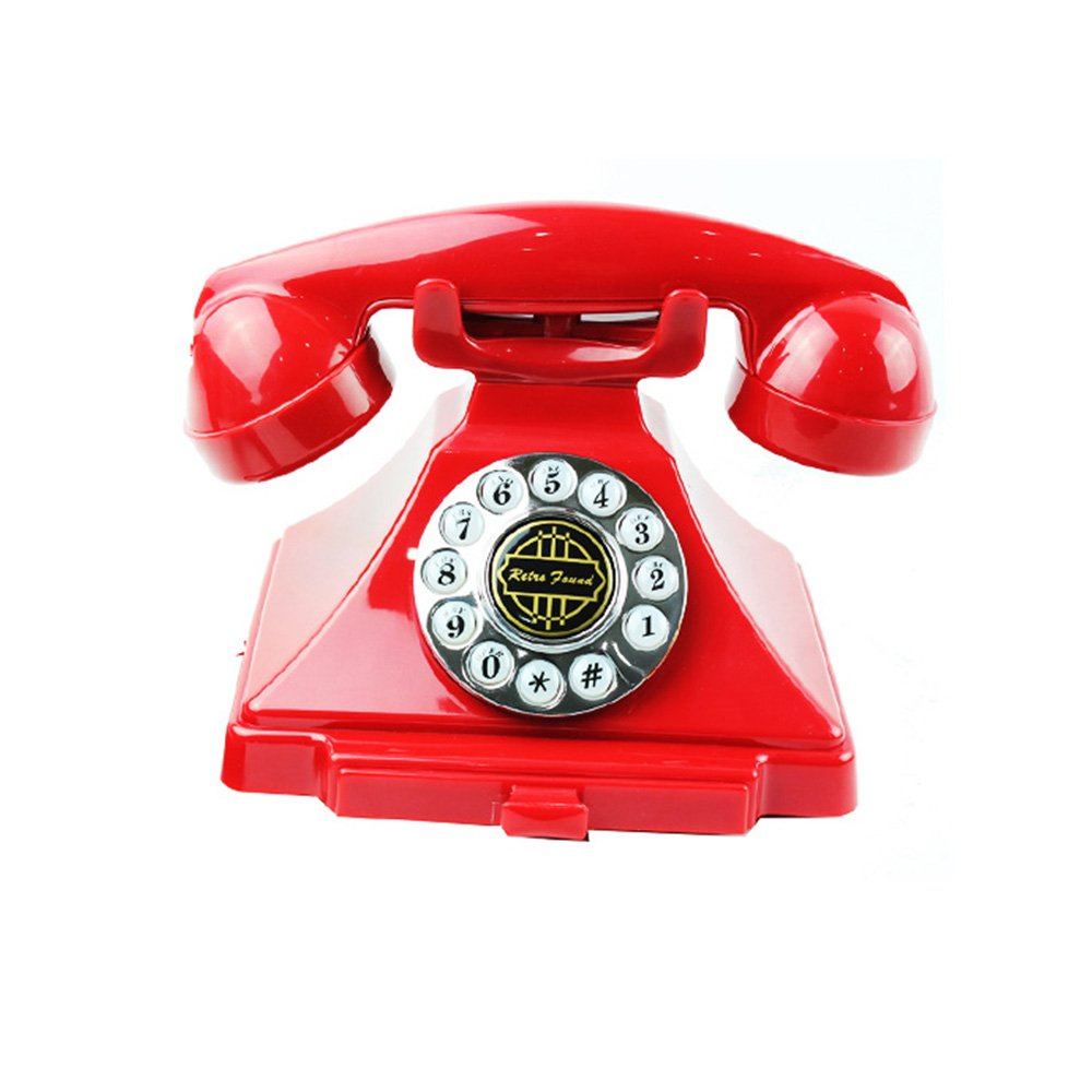Rope Stationary Landline Rustic Telephone Retro European Style Creative Household Office Hotel Telephone (Color : Red) by Virtper US
