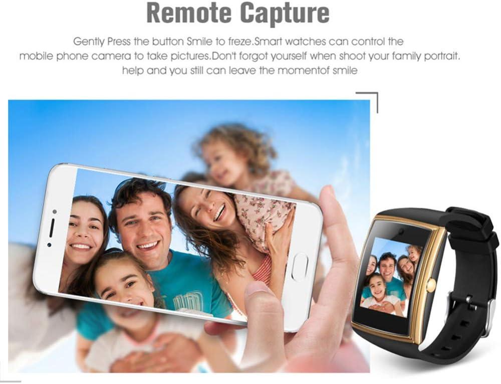 DHJWAI Callable Smart Watch Fitness Tracker Impermeabile Cardiofrequenzimetro Cardiofrequenzimetro Monitoraggio del Sonno Intelligente per iOS Android Uomini E Donne Gold