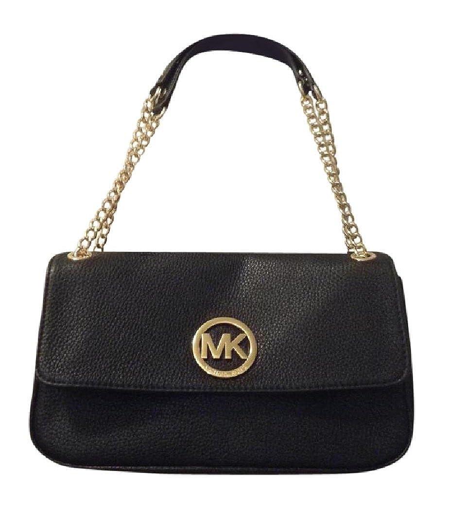 283f8360d694 ... store michael kors fulton small shoulder flap bag black leather  handbags amazon 17908 d5518