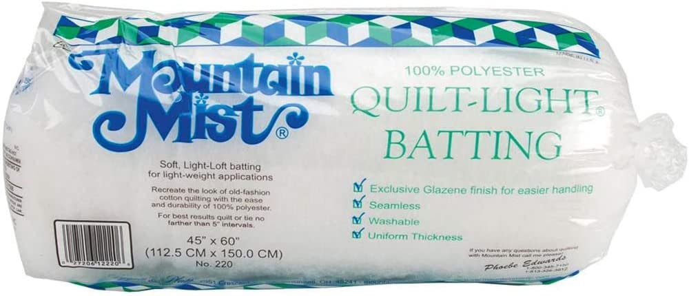 Quilt-Light Polyester Batting 5.7 x 5.7 x 14 inches Crib//Craft 45-inch-by-60-inch