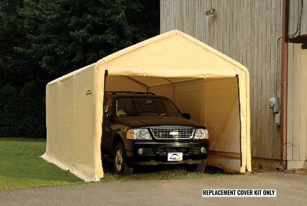 Amazon.com  ShelterLogic Replacement Cover Kit 10x20x8 Peak Tan 90582 (5.5oz Tan)  Garden u0026 Outdoor & Amazon.com : ShelterLogic Replacement Cover Kit 10x20x8 Peak Tan ...