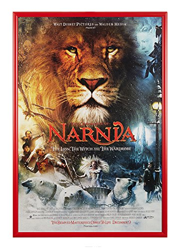 Movie Poster Snap Frame, 27 x 40 inch, narrow 1 inch (25mm) wide aluminum front loading snap frame, Both Clear & Anti-Glare Lens Included, - Glare Frame Anti