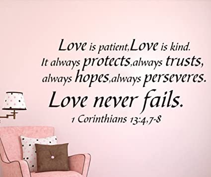 1cd1c5762946be Amazon.com  wsdaa Vinyl DIY Removable Wall Stickers Love is patient ...