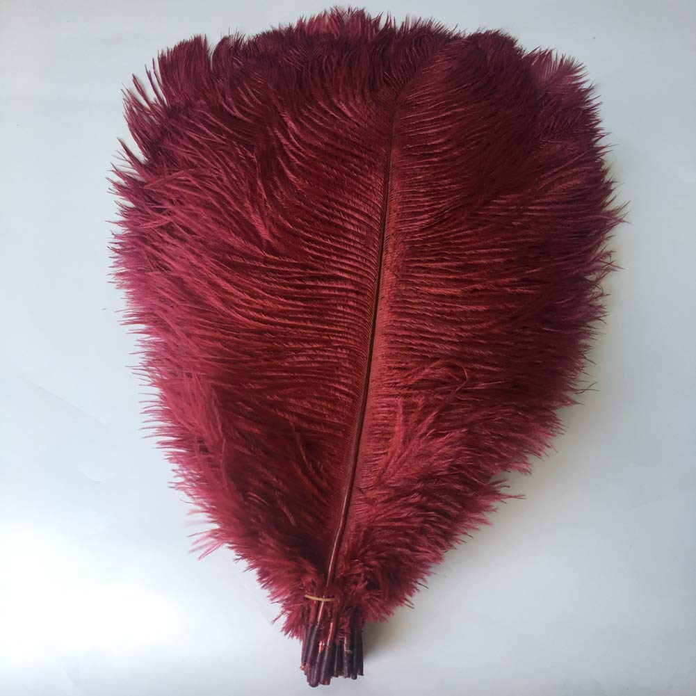 Fuchsia Plume Home Wedding Decoration Sowder 10pcs Ostrich Feathers 12-14inch 30-35cm