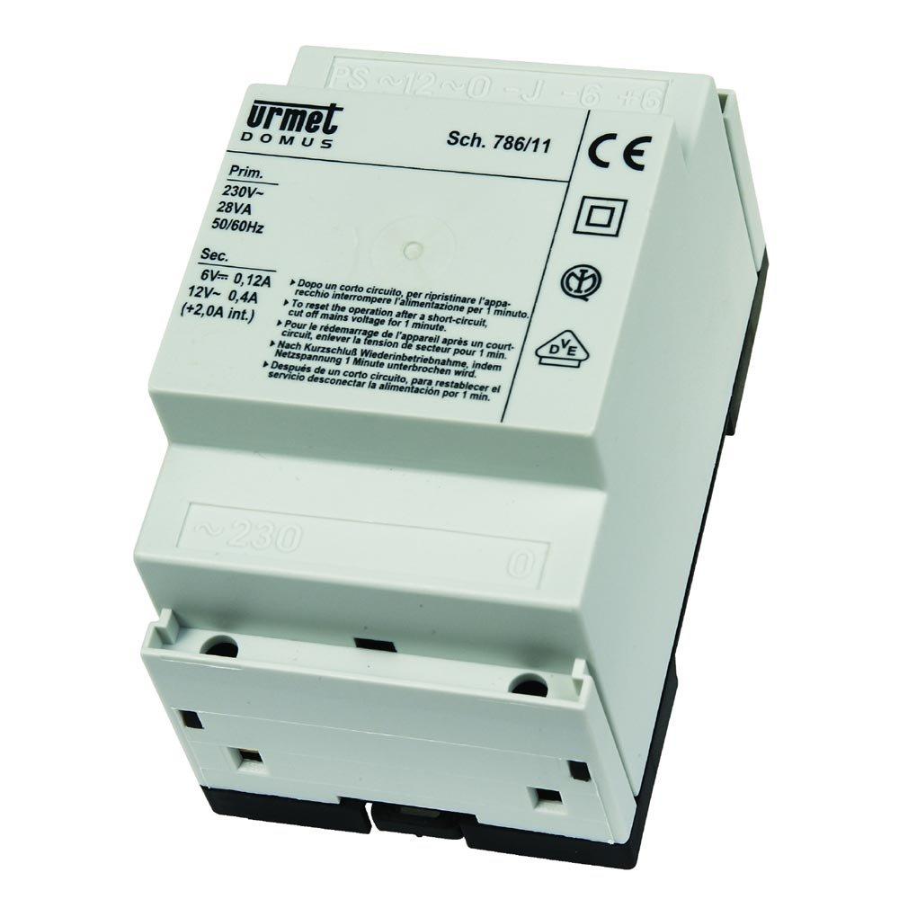 Schema Elettrico Urmet 2 Voice : Urmet 786 11 alimentatore citofonico base con generatore di no