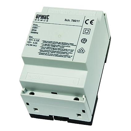 Schemi Elettrici Urmet : Urmet alimentatore citofonico base con generatore di no