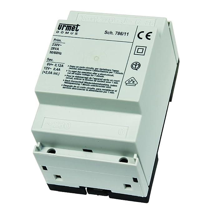 Schema Elettrico Urmet 1130 : Urmet alimentatore citofonico base con generatore di no