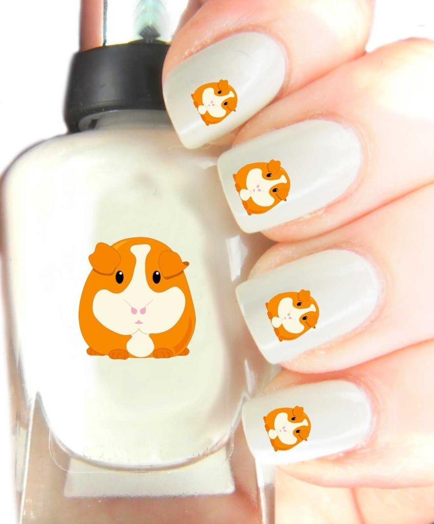 Easy to use, High Quality Nail Art Decal Stickers For Every Occasion! Ideal Christmas Present / Gift - Great Stocking Filler With Top Coat Varnish GuineaPig SNAD