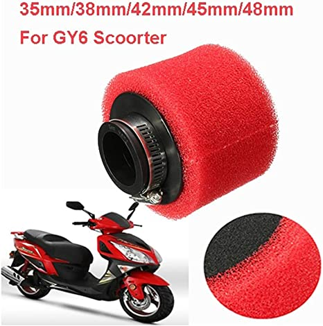Hotaluyt Motorbike Air Filter Scooter Dirt Bike Motorcycle Foam Air Sponge Cleaner 35//38//42//45//48mm