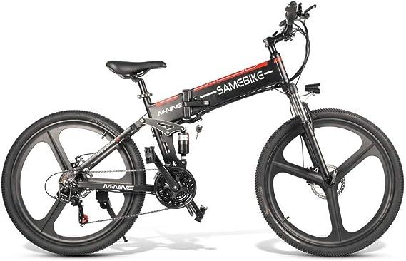 SRXH - Bicicleta eléctrica de montaña (48 V-350 W, 26 Pulgadas, 25 km/h, aleación de magnesio superligera, 10 Ah, 30 – 60 km de kilometraje, con Soporte para teléfono móvil, 3 Modos de Trabajo): Amazon.es: Hogar