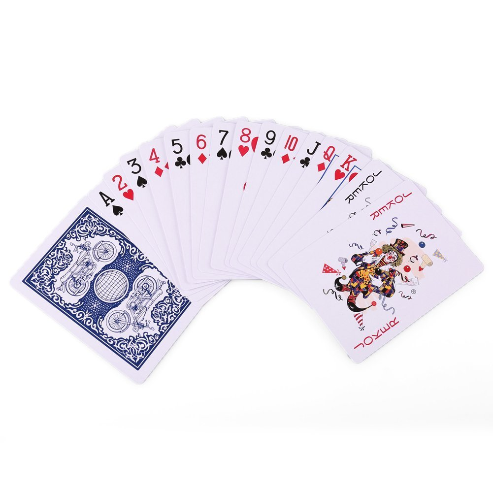 LotFancy Playing Cards Euchre for Blackjack 10B-1418-N Poker Size Standard Index 6 Blue and 6 Red Decks of Cards Pinochle Card Game Blue and Red Color 12 Decks of Cards