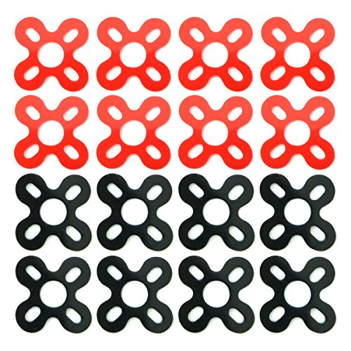 EUDAX 16 PCS Motor Spacer Shock Absorber Pads Damper Vibration Damping Washer Silicone Material for FPV Racing 22xx Series Brushless Motor Emax RS2205 iPower Motor 2204 2206 2208 (Upgrade Version)