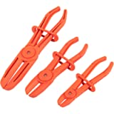 Hose Clamp Pliers for Fuel Hoses (3 Sizes, Red, 3 Pack)