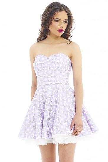 AX Paris Women s Sweetheart Textured Kick Out Skater Dress at Amazon ... 794c7f024