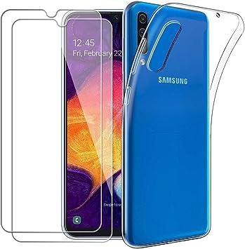 Meeter - Funda para Samsung Galaxy A50 + 2 Piezas Protectores de ...