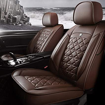 Audi A3 a4l a6l Q3 Q5 A5 ,Black Coj/ín de cinco asientos de cuero universal Funda de asiento de lujo Modelo completo de ajuste envolvente