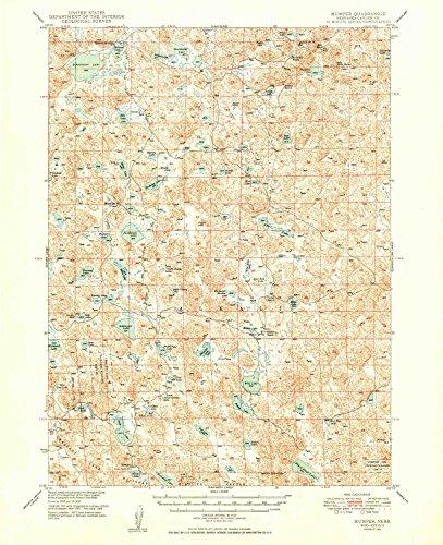 YellowMaps Mumper NE topo map, 1:62500 scale, 15 X 15 Minute, Historical, 1949, 20.8 x 16.9 IN - Tyvek (Rockford Cherry)