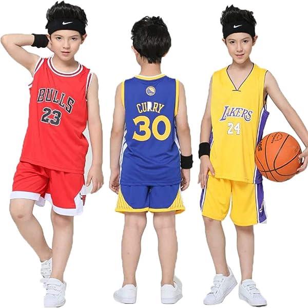 Hanbao Maillots de Baloncesto para Niños - Conjunto NBA Warriors ...
