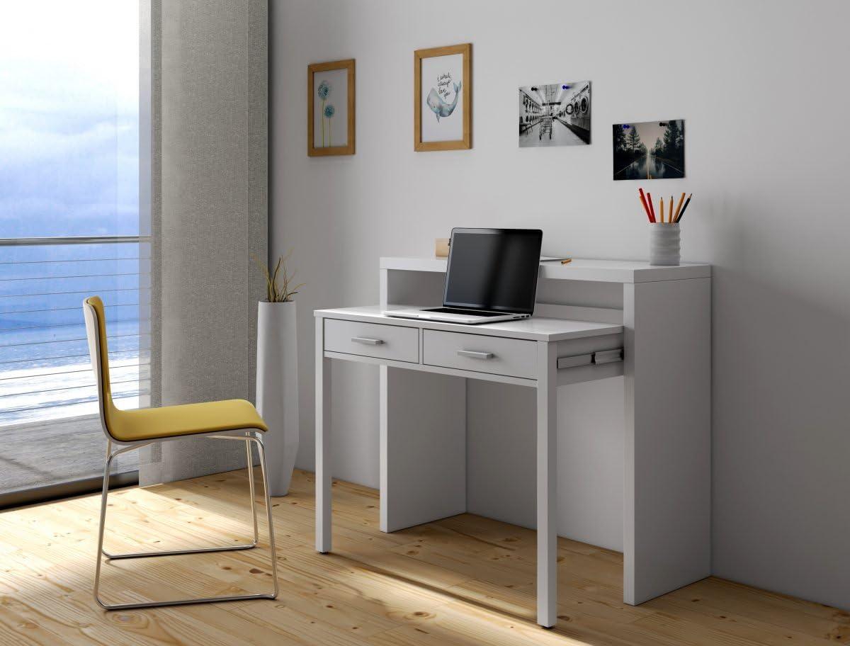 Mesa de Escritorio Extensible Granada, 99 (ancho) x 87,5 x 36-70 ...
