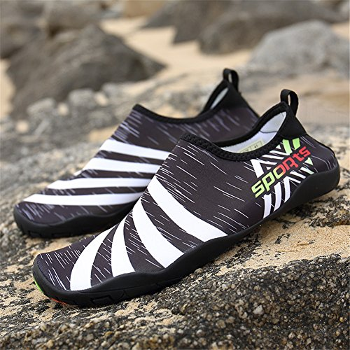 Barefoot Shoes Quick for Women's Beach Yoga Shoes Dry Black Surf Swim Water Men's qWSXwtYw