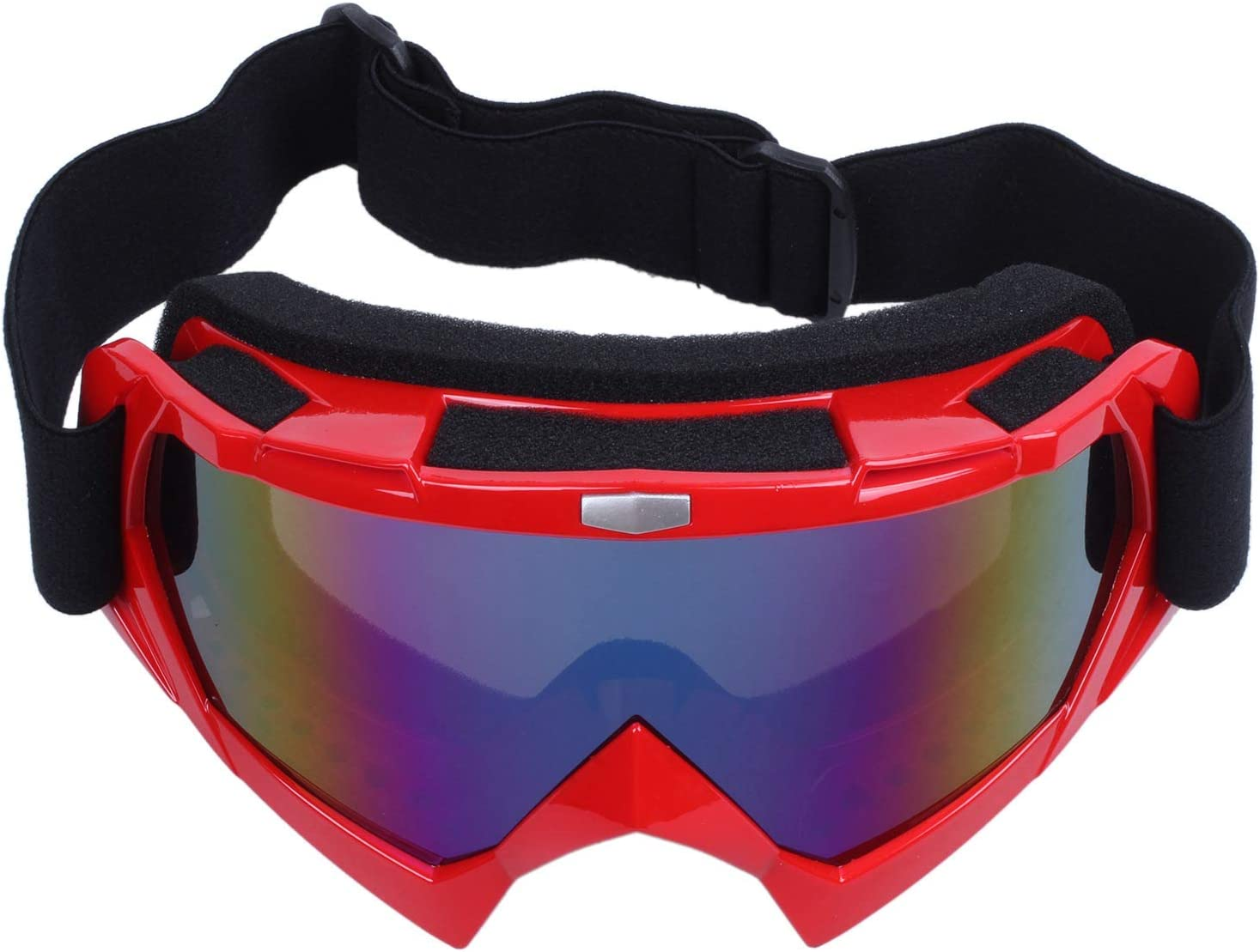 wivarra Single Lens Motocross off-Road ATV Dirt Bike Occhiali da Sci Occhiali da Vista Rosso