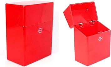 2 cajas de cigarrillos XXXL, color rojo, para 40 cigarrillos, caja de plástico: Amazon.es: Equipaje