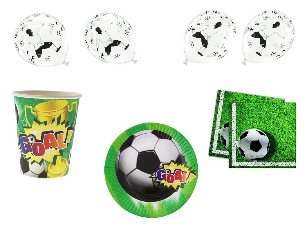 XXL para fiestas cumpleaños Fútbol Niños (para 6 personas ...