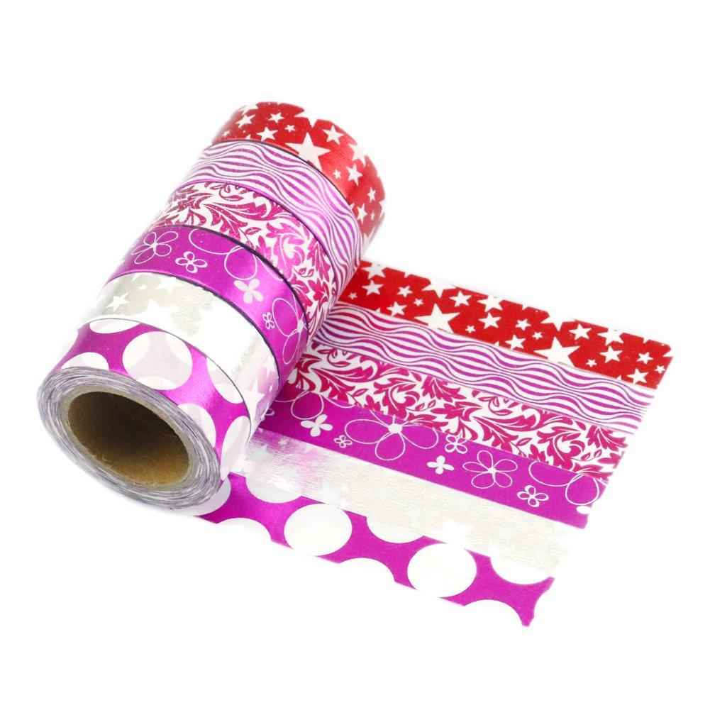6 PCS Ruban Adhésif Washi Tape Masking Scrapbooking Decorative Noel Cadeau pour Aluminium Emballage Magnétique -15x10mm (A-6) Shenzhen Mailanda Trading Ltd JZ-A-6@#-MFR