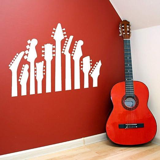 Etiqueta De La Pared Del Mapa Mundial,Guitarra Tatuajes De Pared ...