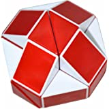 Coolzon® Snake Magic Ruler 24 Parts Twist Puzzle White(Red)