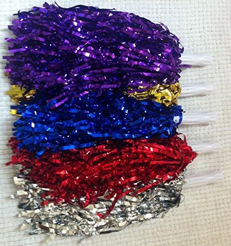 5pares de animadora pompones para despedida disfraz, varios colores WG