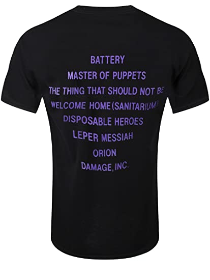 Amazon.com: Generic Mens Metallica T-Shirt-Master Of Puppets X-Large Black: Clothing