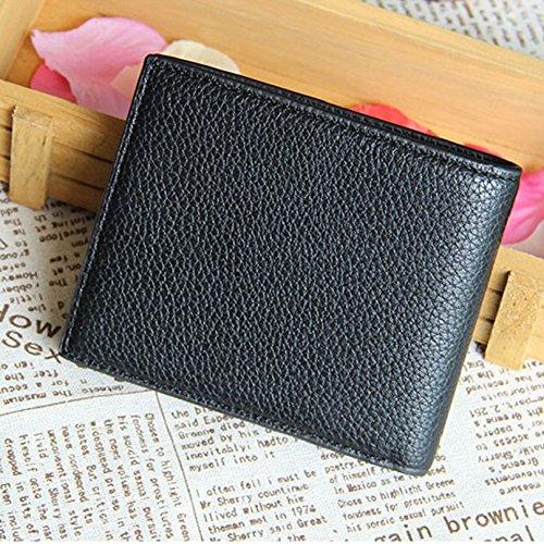 Towallmark(TM)Business Men Bifold Leather Wallet Card Holder Coin Wallet Purse New (Black)