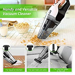 [Upgraded Version] Handheld Vacuum, HoLife Cordless Vacuum Cleaner with 14.8V Li-ion Battery Powered Rechargeable Quick Charge Tech and Cyclone Suction Lightweight Hand Vac