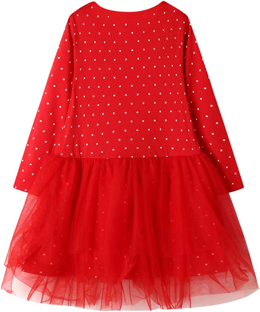 YWLINK Vestido De NiñA De 2-7 AñOs Navidad Vestido Princesa De ...