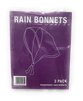 Image Unavailable. Image not available for. Colour  3 CLEAR RAIN BONNETS -  BONNET NEW PLASTIC EMERGENCY HAT PROTECTOR CHEAP WOMENS 0c33571ca96b