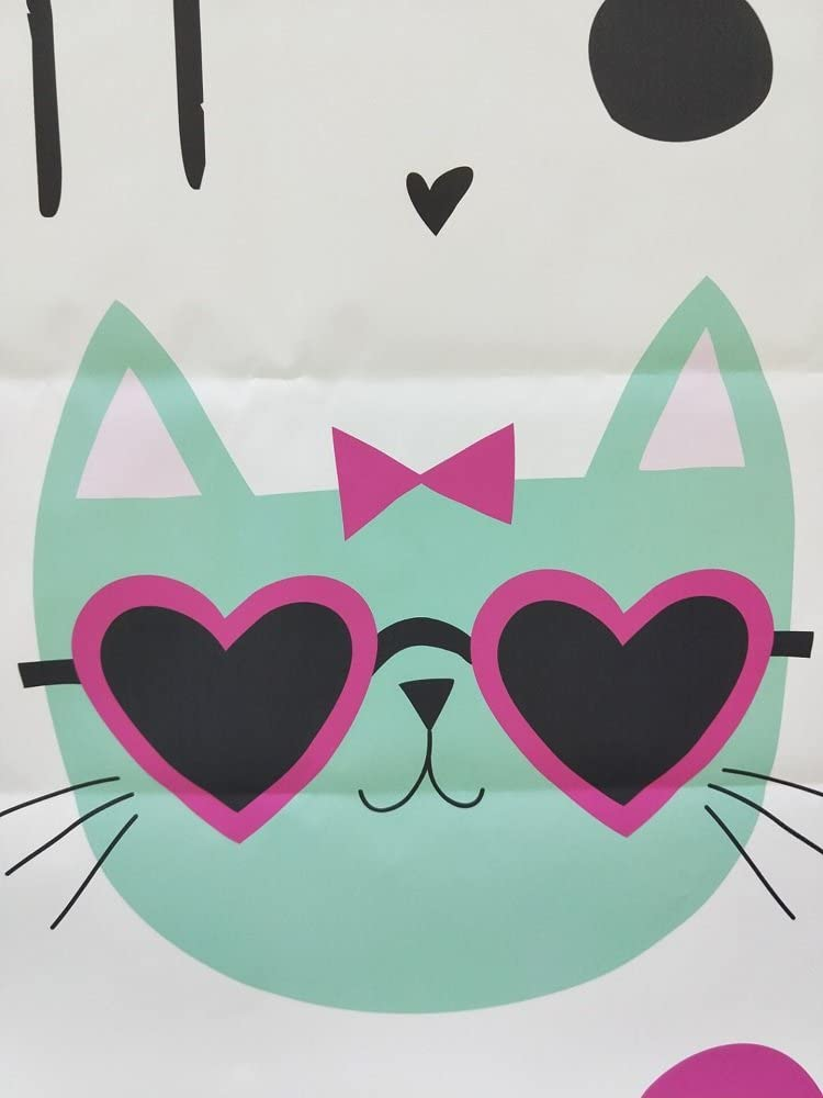 10x12 FT Photo Backdrops,Cool Hipster Cat Portraits with Sunglasses Funny Faces Humor Characters Doodle Background for Kid Baby Boy Girl Artistic Portrait Photo Shoot Studio Props Video Drape Vinyl